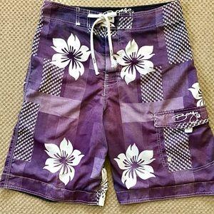 BONGO   Men's Board Shorts w/Floral Geometric   Sm